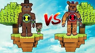 ILHA ANIMATRONIC OMNITRIX DO BEN 10 VS ILHA ANIMATRONIC OMNITRIX BEN 10 REVERSO DO MAL No MINECRAFT