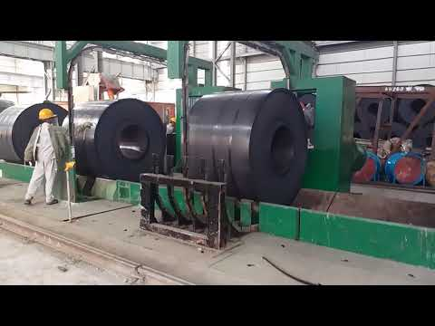 automatic hot roll steel coil circuit strapping machine in steel plant