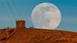 video: Watch: Snow moon rises in Bolton in stunning images