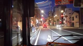 【前面展望】万代橋ライン(青山~万代橋~新潟駅)【新潟交通】