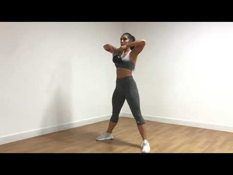 Plié Squat to Upright Row with Kettlebell