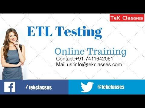ETL Testing Training     ETL Testing Video Tutorials - YouTube