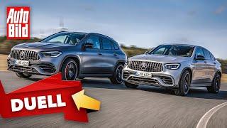 [AUTO BILD] Mercedes-AMG GLA 45 S vs. GLC 63 S (2021) | Das Duell der Power-SUVs