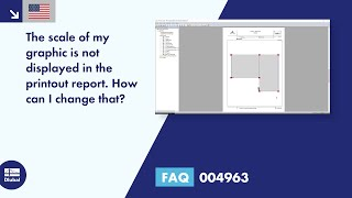 FAQ 004963 | The scale of my graphic is not displayed in the printout report. How can I change that?