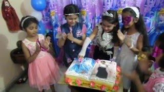 Anishkas 7th Cinderella Birthday Cake Cutting
