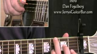 How To Play Dan Fogelberg Leader of the Band (intro only)