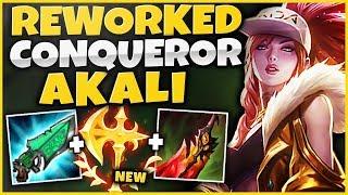CONQUEROR REWORK AKALI IS 100% AMAZING!  INSANE TRUE DAMAGE + HEALING! - League of Legends