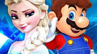 Elsa VS. Mario   Torneio de Titãs Part. Felícia Rock