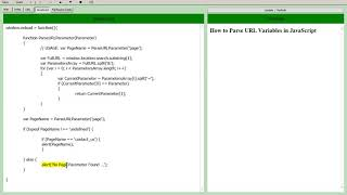 JavaScript - How to Get URL Parameters - Parse URL Variables