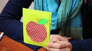 How to Make a Birthday Card for a Teacher : Name Tags & Cards