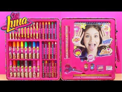 Maletín artista de SOY LUNA en español | Juguetes de Soy Luna para dibujar, colorear y decorar