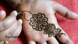simple arabic henna mehndi designs for hands arabic mehndi designs for hands step by - Henna Muster Fur Anfanger