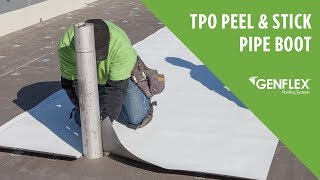 Peel and Stick TPO Pipe Boot