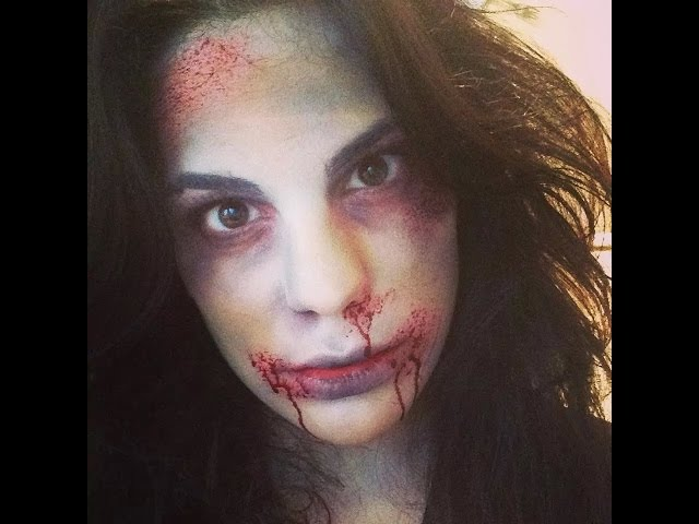 Maquillage halloween simple et rapide - Maquillage zombie simple ...