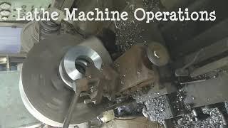 Lathe Machine Operations|| Facing Operation on lathe|| lathe machine working||lathe Machine works