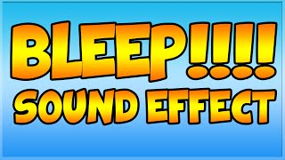 Beep Sound Effect - Curse Word Censoring - Censor Sound Effect