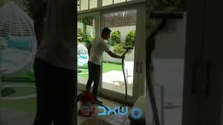 שאברב בפועל - ניקוי חלונות
