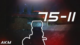 75-11 AKM Gameplay...( It's op c; ) || ROBLOX Phantom Forces