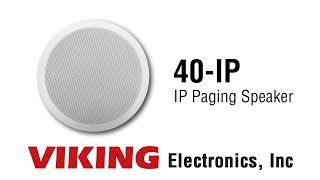Viking 40-IP IP Paging Speaker