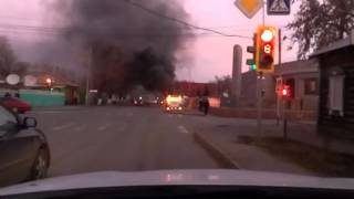 В Павлодаре полностью сгорел маршрутный автобус