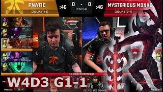 Fnatic vs Mysterious Monkeys | Game 1 S7 EU LCS Summer 2017 Week 4 Day 3 | FNC vs MM G1 W4D3