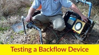 Testing A Backflow Device