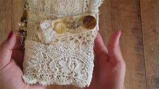 Vintage & Antique Lace Travellers Notebook/Journal (A6 Size)