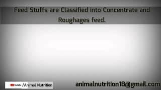 Classification of feed stuff