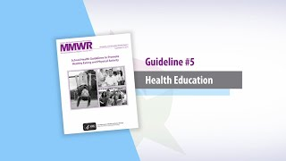 Guideline 5 Health Education