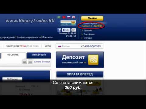 Бинарные опционы с минимальным депозитом 200 рублей