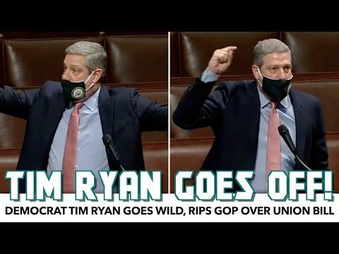 Tim Ryan Goes Wild, Rips GOP Over Union Bill