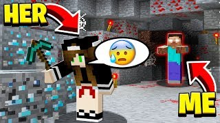SHE **QUIT** when SHE SAW HEROBRINE in HER MINECRAFT WORLD!