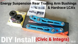 How to Install Energy Suspension Rear Trailing Arm Bushing   Project Civic Wagon Part 11