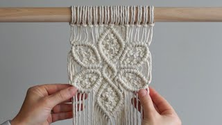 DIY Macrame Tutorial: Large 6 Petal Flower Using Double Half Hitch And Square Knots!