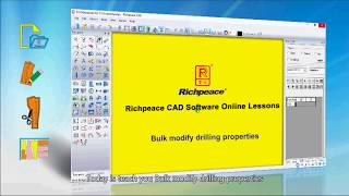 Richpeace CAD Software Online Lessons-Bulk modify drilling properties (V10)