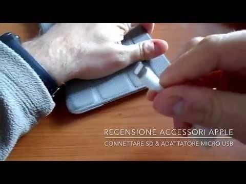 Recensione accessori Apple - lettore Sd & convertitore usb