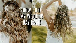 I DID MY HAIR FOR MY WEDDING! | Tutorial