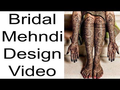 bridal mehndi design for hands and feet full video by saheli beauty art