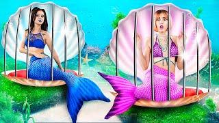 Good Mermaid vs Bad Mermaid in Jail! Escaping from the Underwater Prison