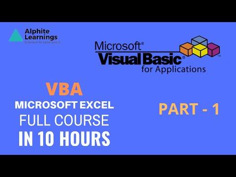 Complete Excel VBA Program Part -1   Certification Course