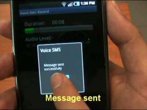 Video of Voice SMS
