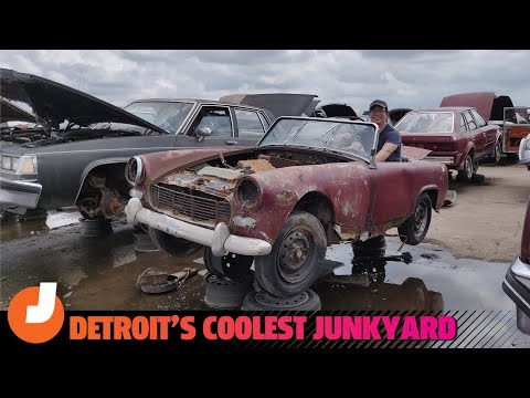 Here Are The Coolest Cars We Found In Detroit's Most Fascinating Junkyard