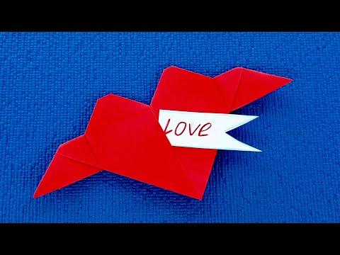 ОРИГАМИ СЕРДЦЕ - ВАЛЕНТИНКА С СЮРПРИЗОМ! Оригами из бумаги своими руками.