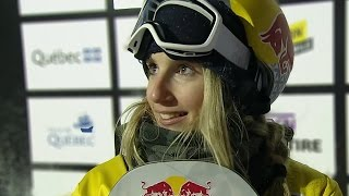 Womens Snowboard Big Air In Quebec: Final Jump