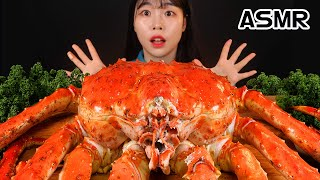 ASMR MUKBANG 4kg king king crab, cheese sauce, tartar sauce, chili sauce, eating