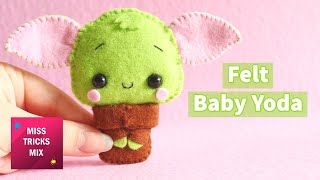 DIY: Cute Felt Yoda | Kawaii Crafts.