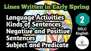Language Activities/Textual Grammar Activities With The Lesson Lines Written In Early Spring.