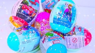 Surprise Eggs Candies Frozen Super Surprise, Barbie, Cars, Marvels, Adventure Time - Kids' Toys