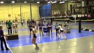 Senior Showcase Middle Hitters Drill