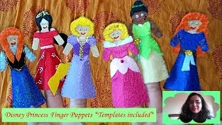 How To Make 6 More Disney Princess Themed Felt Finger Puppets